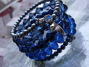 Náramky - náramky (Modrá) - 8935520_