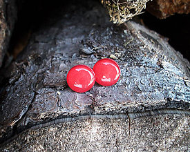 Náušnice - Krúžky 12 mm (červené) - 8938907_