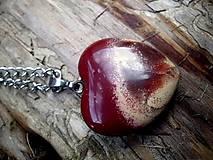 - náhrdelník srdce - jaspis  - 8937013_