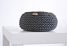 Pletený košík - antracitový