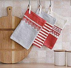 Úžitkový textil - Chňapky EXTRA hrubé - NÓRSKY VZOR - 8937059_