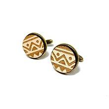 Šperky - Manžetové gombíky Štrikovanec - 8935351_