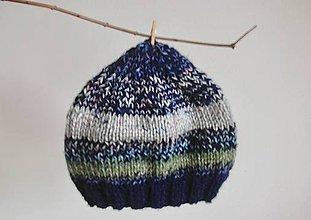 Detské čiapky - Detská Beanie čiapočka, pestrofarebná - 8936901_