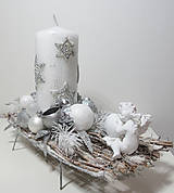 - Vianočný svietnik strieborný s anjelikom - 8938840_