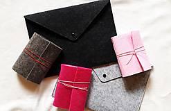Kabelky - Obal na tablet, notebook/Listová kabelka s brošňou - 3 farby - 8938646_