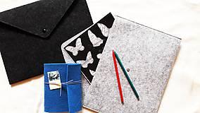 Kabelky - Obal na tablet, notebook/Listová kabelka s brošňou - 3 farby - 8938648_