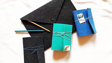 Kabelky - Obal na notebook/Listová kabelka Antracit s brošňou - 8938690_