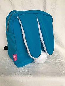 Detské tašky - Detský softshell batoh ZAJKO - modrý - 8938783_