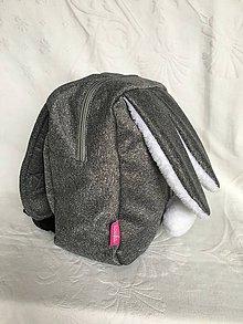 Detské tašky - Detský softshell batoh ZAJKO - melir.sivý - 8938792_