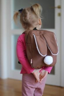 Detské tašky - Detský softshell batoh ZAJKO - sv.hnedý - 8938797_