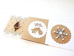 Papiernictvo - sada vianočných minipohľadníc - 8935701_
