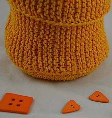 Úžitkový textil - pletený košík na hocičo - 8942379_