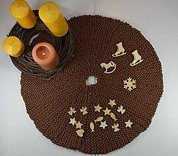 Úžitkový textil - OBRUS v čokoládovohnedom... - 8942471_