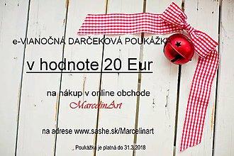 Darčekové poukážky - Darčeková poukážka Vianoce v hodnote 20, 30, 50, 70 Eur - dohoda :) - 8942495_