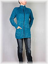 Mikiny - Kabátek na zip-svetrovina(více barev) - 8939963_