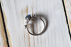 Prstene - Strieborný ligotavý prsteň - Bokeh Kyanit - 8939770_