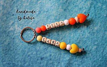 Kľúčenky - dvojhlavý drak (Oranžová) - 8940550_