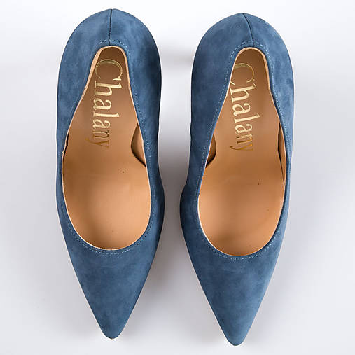 40295be04a Modre lodicky   chalany - SAShE.sk - Handmade Obuv