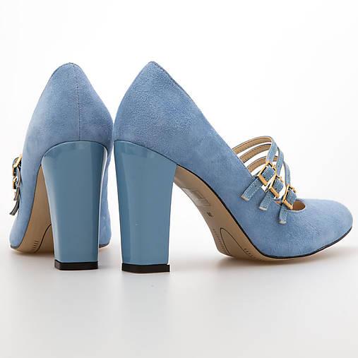 9a105f3d9f Bledo modré topanky s pasikmi   chalany - SAShE.sk - Handmade Obuv