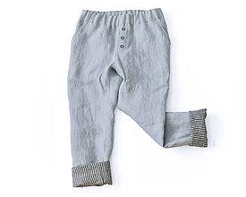 Detské oblečenie - Obojstranné nohavice MAX sivé - 8940864_