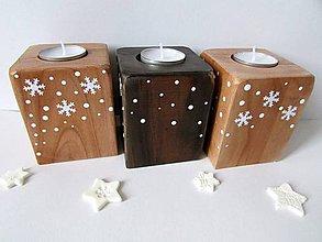 Svietidlá a sviečky - Plamienok: Drevený svietnik - 8939973_