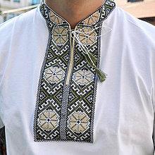Oblečenie - Vyšívané tričko Zelené - 8939947_