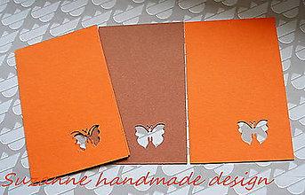 Papier - visačky s motýľom 2 farby / 5ks - 8939071_
