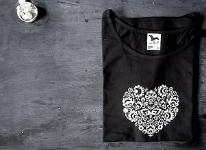 Tričká - Folky tričko čierne - 8941124_