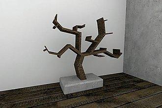 Nábytok - Polica strom v kvetináči - 8942264_