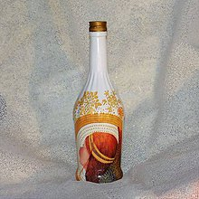 Nádoby - Vianočná fľaša Anjelská svätožiara - 8942164_