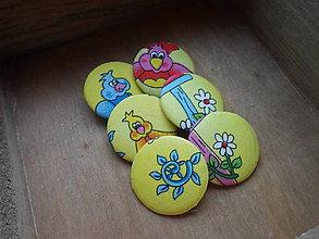 Materiál ručne robený - buttony/gombíky Angry Birds - 8941186_