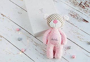 Hračky - Macko ružovo-šedý - 8939857_