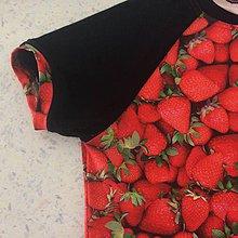 Detské oblečenie - Tričko-jahodové vel.146-152 - 8941717_