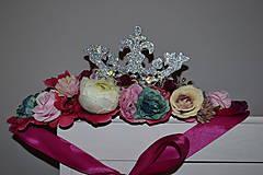 - Kvetovaný venček Rosie Queen - 8938927_