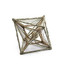 Socha - Textilná miniatúra s názvom:Vesmírna geometria I. - 8939861_