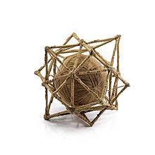 Socha - Textilná miniatúra s názvom:Vesmírna geometria II. - 8939903_
