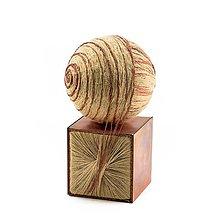 Socha - Textilná miniatúra s názvom: Dva princípy - 8941440_