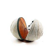Socha - Textilná miniatúra s názvom: Večné puto - 8941516_