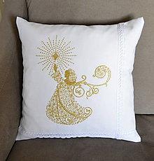 Úžitkový textil - vianoce-vankúš -anjel - 8940970_