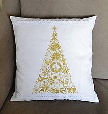 Úžitkový textil - vianoce-vankúš -stromček - 8940987_