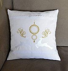 Úžitkový textil - vianoce-vankúš -jelene - 8941003_