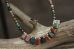 - Náhrdelník z minerálu indický achát - 8941897_