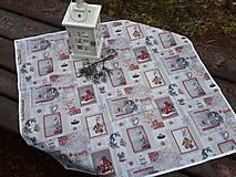 Úžitkový textil - Winter in bordo and white - 8944847_
