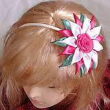 Detské doplnky - Čelenka s kvetom pre dievčatko - 8944280_