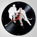 Hodiny - Ice Hockey / Hokejista - Vinyl clocks (vinylové hodiny) - 8944286_