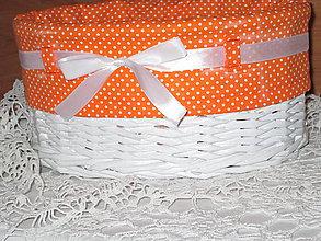 Košíky - Košík - Oválny v oranžovej košieľke - 8943325_