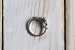 Prstene - Strieborný/zlatý ligotavý prsteň s adulárom - Bokeh Moon (Bokeh Moon STRIEBORNÝ (Ag 925/1000) mesačný kameň 6mm) - 8943211_