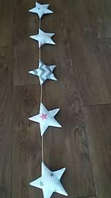 Detské doplnky - Girlanda hviezdy - 8944326_