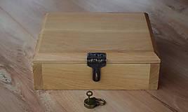 Krabičky - Dubová truhlička na britvy - 8944067_