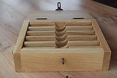 Krabičky - Dubová truhlička na britvy - 8944072_